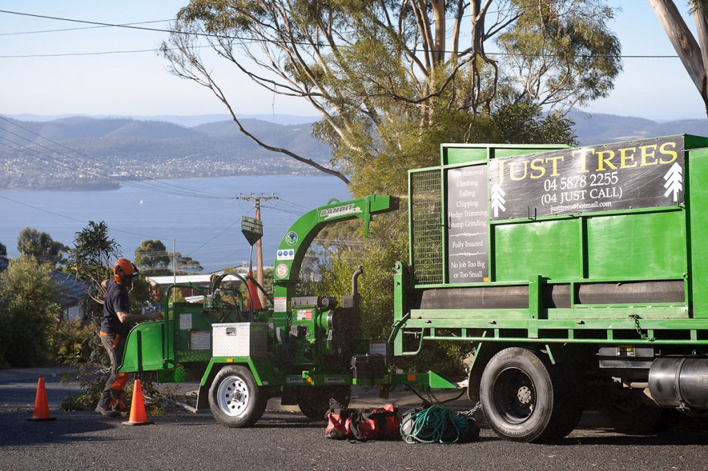 Woodchipping in Hobart